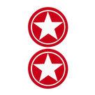 Tepelsticker--2-Rode-Sterren