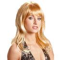 Rood-blonde-pruik